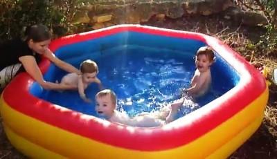 Бассейн на детской площадке