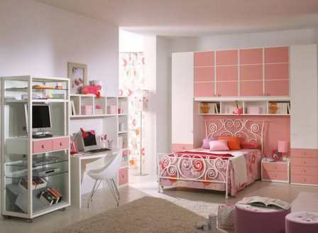 Комната для девушки - цветовое решение