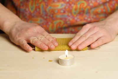 Свеча из вощины своими руками