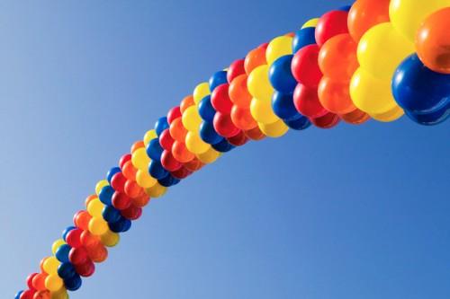 Сердце воздушными шарами своими руками