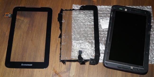 Замена дисплея планшета своими руками 33