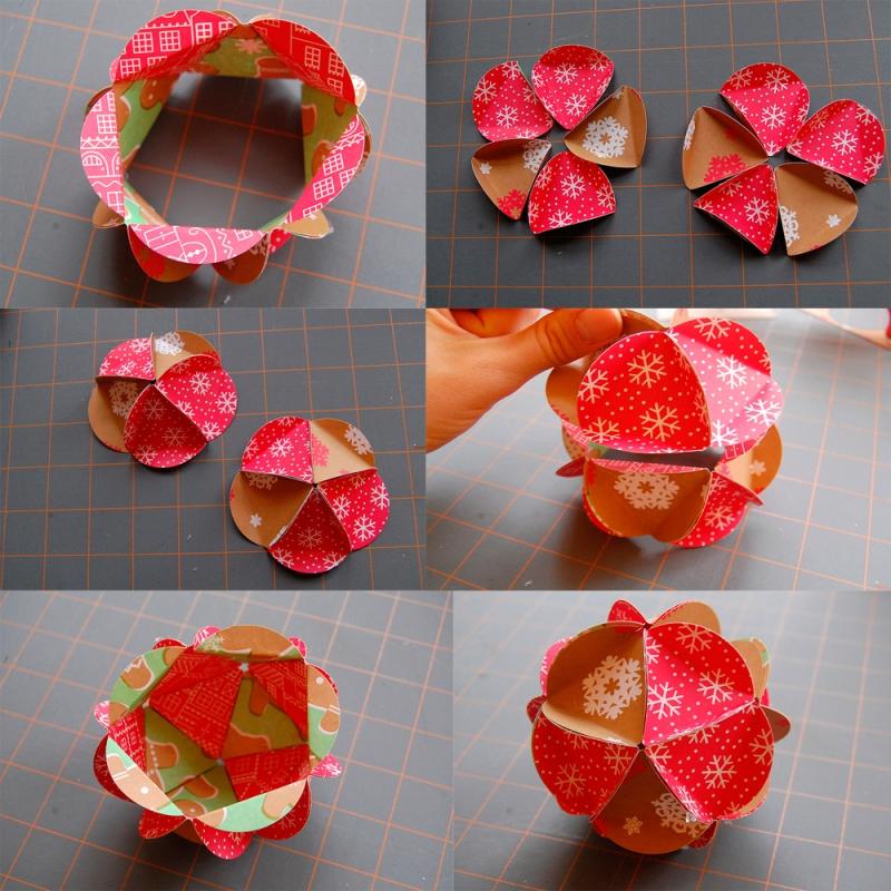 Как из бумаги сделать красивую новогоднюю игрушку