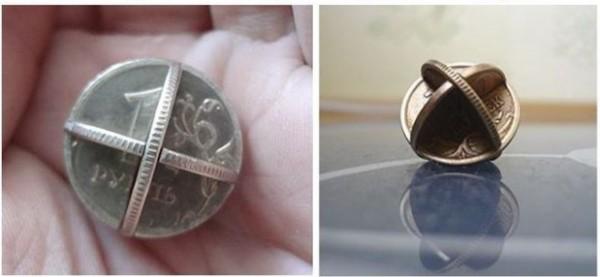 Что можно сделать из монеты своими руками