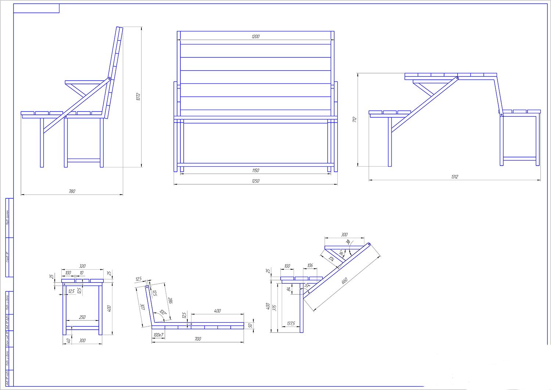 Садовая мебель из металла своими руками чертежи и схемы