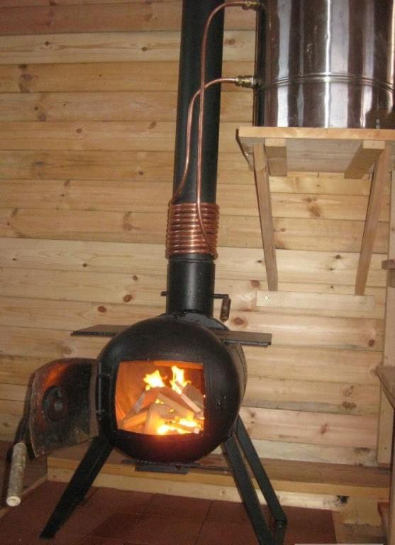 Печь в баню своими руками из газового баллона