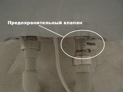 Установка накопительного электрического водонагревателя своими руками.