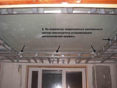 Как сделать двухуровневый потолок из гипсокартона своими