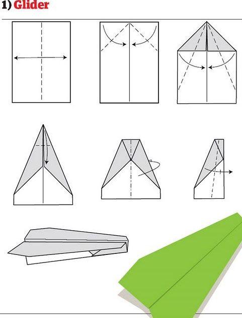 Как сложить самолетик из