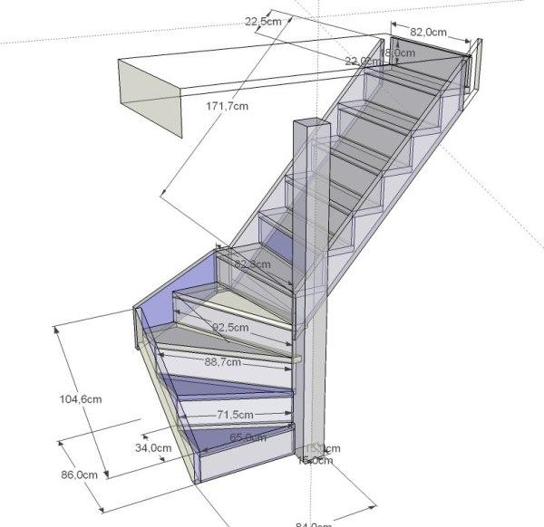 лестница на второй этаж .