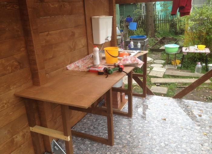 Как обустроить летнюю кухню своими руками фото